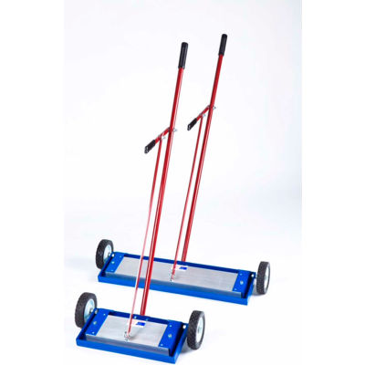 """AMK Magnetics Lever Release Magnetic Sweeper, 14""""W, LRM-14"""