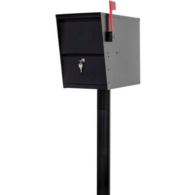 """LetterSentry Locking Mailbox LSLM-2000-PST, 10""""W x 19-1/2""""D x 15""""H with 48""""H In-Ground Post"""