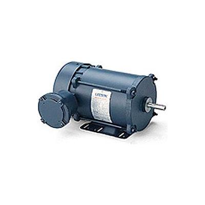 Leeson Motors - 1/3HP, 208-230/460V, 1140/950RPM, EPNV, Rigid Mount, 1.0 S.F.