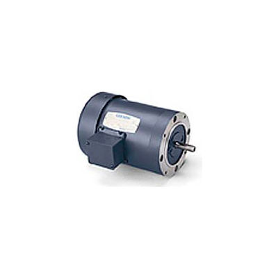 Leeson 114213.00, 0.75 HP, 1725 RPM, 208-230/460V, 56C, TEFC, C-Face Footless