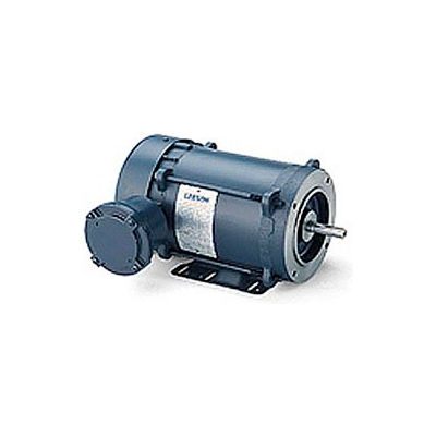 Leeson Motors - .5/.33HP, 208-230/460V, 3450/2850RPM, EPNV, Rigid Mount