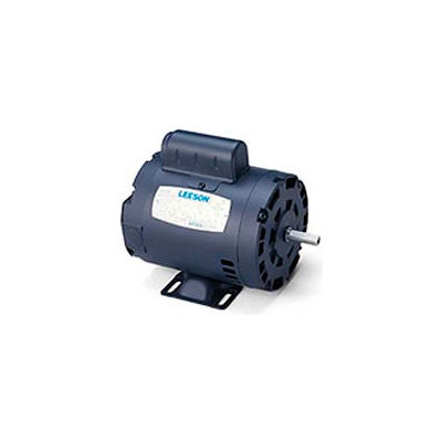 Leeson Motors-1.5HP, 115/208-230V, 3450RPM, DP, Rigid Mount, 1.15 SF, 74 Eff