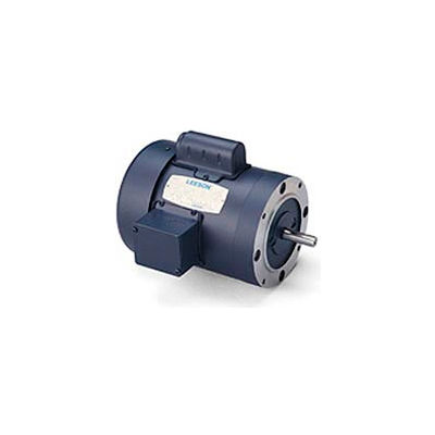 Leeson Motors-3HP, 115/208-230V, 1740RPM, TEFC, C Face Mount, 1.0 SF, 77 Eff.