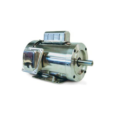 Leeson Motors Motor Washdown Motor-1.5HP, 115-208/230V, 1800RPM, TEFC, RIGID C, 1.15 SF, 75 Eff.