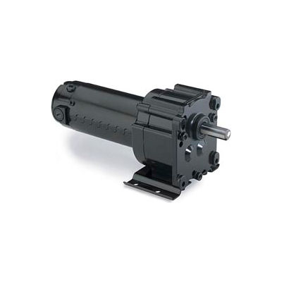Leeson M1115025.00, 1/20 HP, 9 RPM, 90VDC, TENV, P300, 216:1 Ratio, 268 In-Lbs