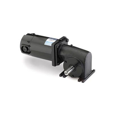 Leeson M1135063.00, 1/4 HP, 83 RPM, 180VDC, TENV, 13, 30:1 Ratio, 125 In-Lbs