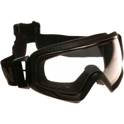 Paulson Repel Tactical Goggles Transparent Polycarbonate Dual Lens Hardcoated, Anti-Fog, RTG-2