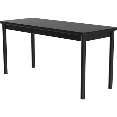 "Correll Science Lab Table - Laminate Top - 24""W x 48""L x 36""H - Black Granite"