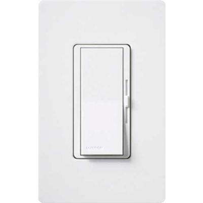 Lutron Diva® Preset Dimmer With Locator Light, Single Pole, 120V, 300W, White