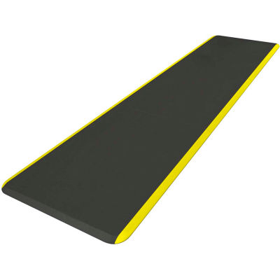 "NewLife™ Eco-Pro Continuous Comfort Mat, 24""x 8', Black w/Yellow Safety Stripe"