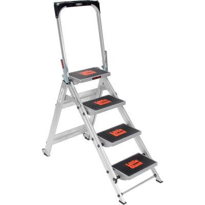 Little Giant® Safety Aluminum Step Ladder - 4 Step - 10410BA