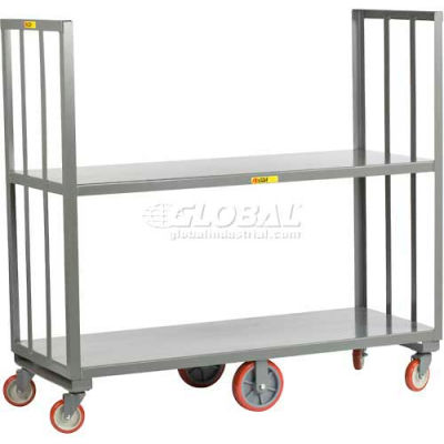 Little Giant® 2 Shelf High-End Platform Truck HE2-2460 - 60 x 24 2000 Lb. Capacity