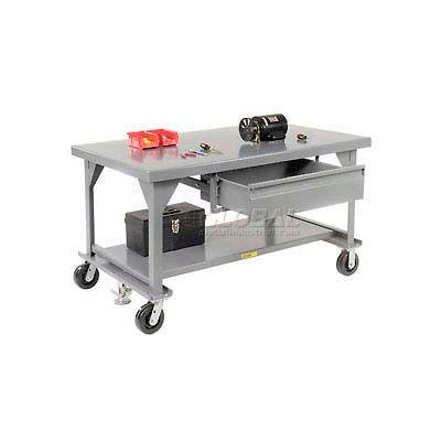 """Little Giant® Heavy Duty 7 Gauge Mobile Workbench, 8"""" Casters & Floor Lock - 84""""W x 42""""D x 34""""H"""