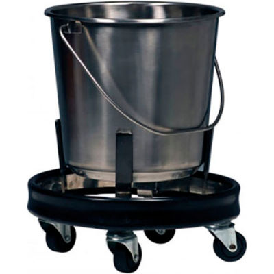 Graham-Field 3267 Stainless Steel Kick Bucket and Stand Set, 12.5 Quart Capacity