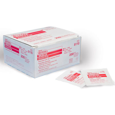 Webcol™ Alcohol Prep Pads, Large, 2-Ply, Sterile, Box of 200
