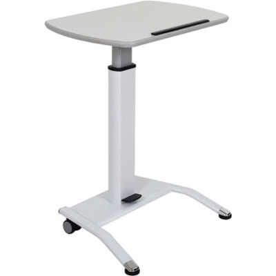 Luxor® Pneumatic Height Adjustable Lectern - White