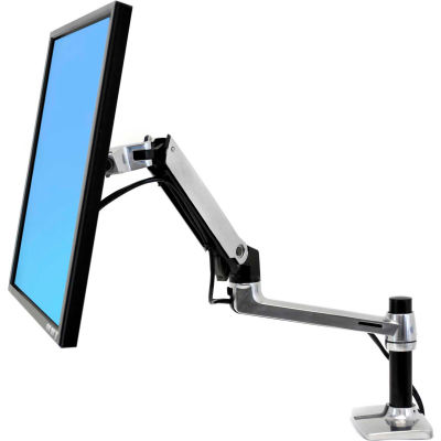 Ergotron® LX Desk Monitor Arm, Polished Aluminum