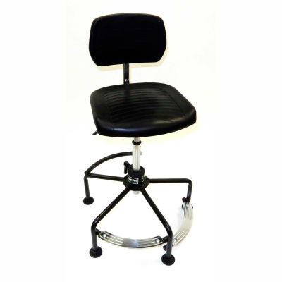 ShopSol Industrial Chair with 2-level Footrest - Steel