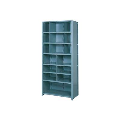 "Lyon Shelving Starter BB8060S - 16 Compartment 8 Traditional Shelves, 36""Wx12""Dx84""H Blue"