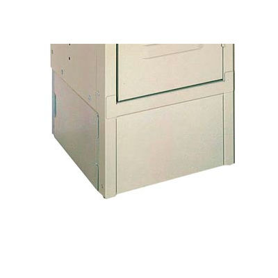 "Lyon Closed End Locker Base DD5806 - 21""Dx6""H - 2-Pack - Gray"