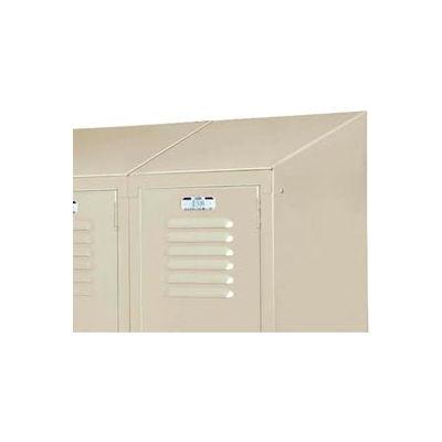 "Lyon Slope Top Kit DD58321 For Lyon Lockers One-Wide- 12""Wx18""D - Gray"