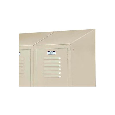 "Lyon Slope Top Kit DD58341 For Lyon Lockers - 15""Wx18""D - One-Wide - Gray"