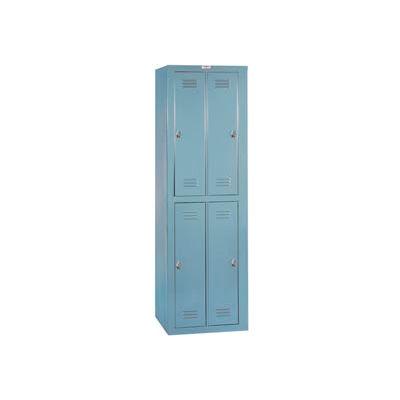 Lyon Apparel Locker DD6304WC - 4 Person w/ Combination Locks - Gray