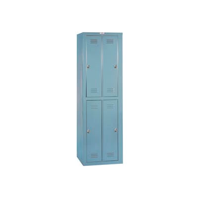 Lyon Apparel Locker DD6304WPLA - 4 Person w/ Padlocks - Gray