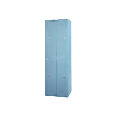 Lyon 4 Hanging Garment Locker w/ Key Lock DD6404W - Gray