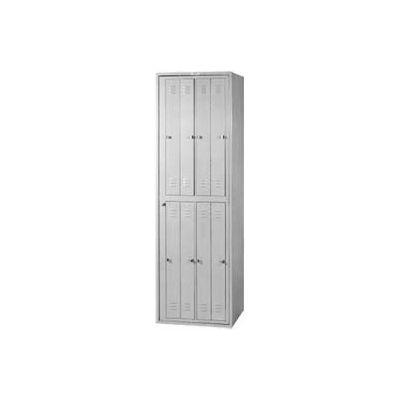 Lyon 8 Hanging Garment Locker w/ Turn Loc DD6408TL - Gray