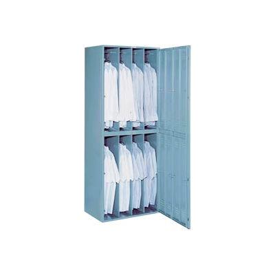 Lyon 8 Hanging Garment Widebody Locker w/ Key Lock DD6408W - Gray