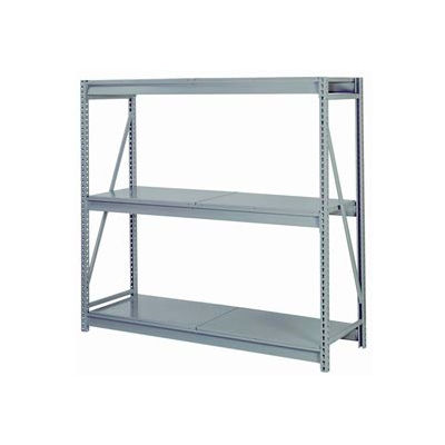 "Bulk Storage Rack Starter, 3 Tier, Solid Decking, 60""W x 48""D x 72""H Gray"