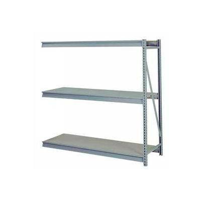 "Bulk Storage Rack Add-On, 3 Tier, Solid Decking, 72""W x 24""D x 72""H Gray"