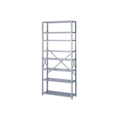 """Lyon Steel Shelving 22 Gauge 36""""W x 12""""D x 84""""H Open Style 8 Shelves Gy Add-On"""