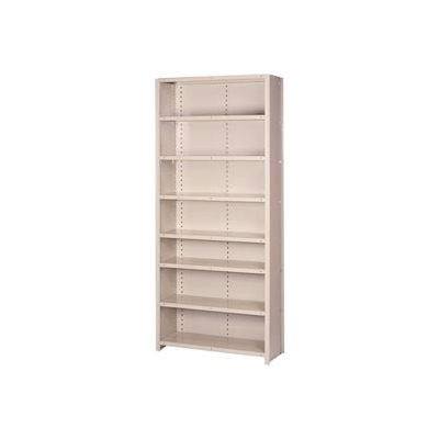 "Lyon Steel Shelving 22 Gauge 36""W x 12""D x 84""H Closed Style 8 Shelves Gy Add-On"