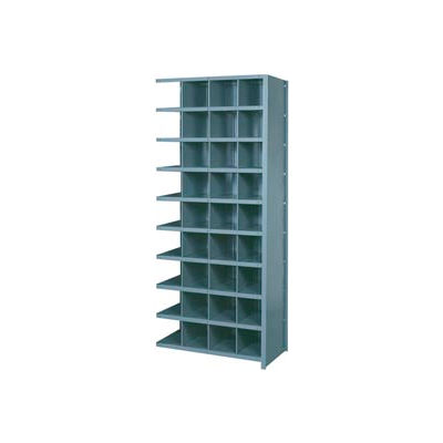 """Lyon Shelving Add-On DD8102H - 36 Compartment 10 Heavy-Duty Shelves, 36""""Wx24""""Dx84""""H Gray"""