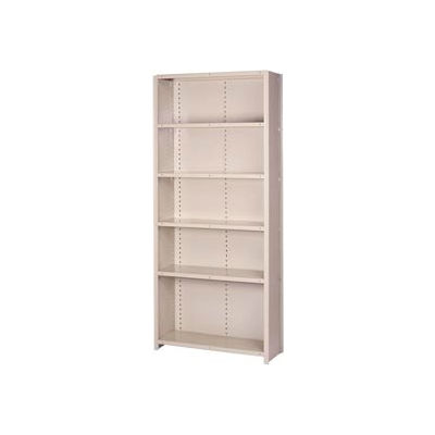 "Lyon Steel Shelving 22 Gauge 36""W x 12""D x 84""H Closed Style 6 Shelves Gy Starter"