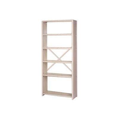 """Lyon Steel Shelving 22 Gauge 36""""W x 18""""D x 84""""H Open Back Style 6 Shelves Gy Starter"""