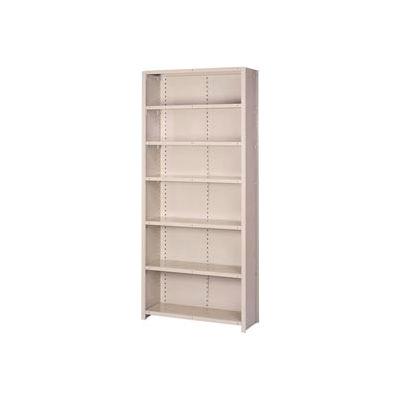 "Lyon Steel Shelving 20 Gauge 42""W x 12""D x 84""H Closed Style 7 Shelves Gy Add-On"