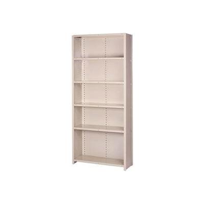"Lyon Steel Shelving 18 Gauge 48""W x 12""D x 84""H Closed Style 6 Shelves Gy Starter"