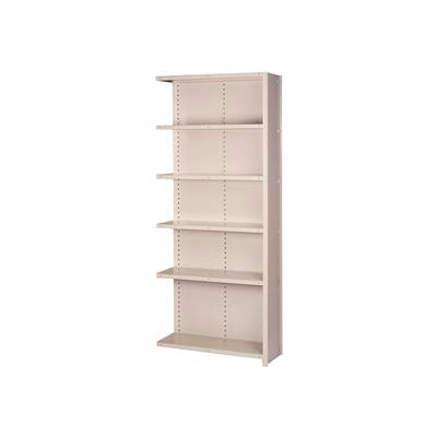 "Lyon Steel Shelving 20 Gauge 48""W x 18""D x 84""H Closed Style 6 Shelves Gy Add-On"