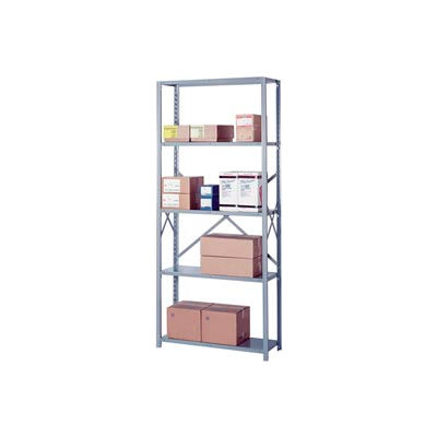 """Lyon Steel Shelving 18 Gauge 48""""W x 24""""D x 84""""H Open Style 5 Shelves Gy Starter"""