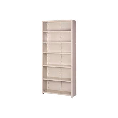 "Lyon Steel Shelving 18 Gauge 48""W x 24""D x 84""H Closed Style 7 Shelves Gy Add-On"