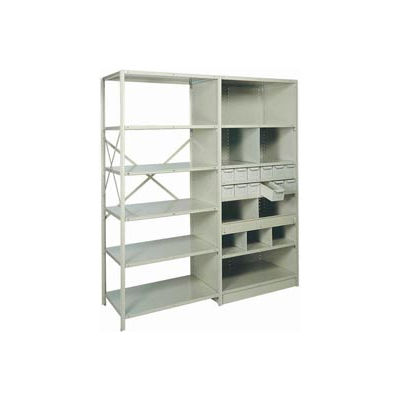 "Shelf Divider, 18""Dx12""H Gray (12) pcs"