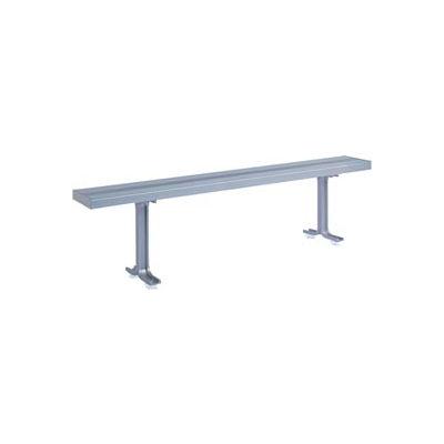 """Lyon Locker Bench Aluminum Top & Pedestals NF5827 - 120""""W x 9-1/2""""D x 17-1/8""""H"""