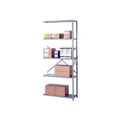 """Lyon Steel Shelving 20 Gauge 42""""W x 18""""D x 84""""H Open Style 5 Shelves Py Add-On"""