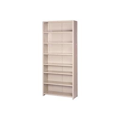 """Lyon Steel Shelving 18 Gauge 36""""W x 18""""D x 84""""H Closed Style 8 Shelves Py Add-On"""