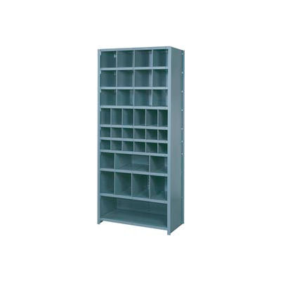 "Lyon Shelving Starter PP8120SH - 38 Compartment 10 Heavy-Duty Shelves, 36""Wx12""Dx84""H Putty"