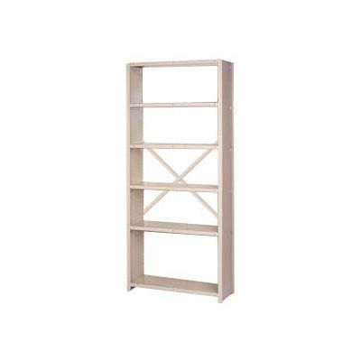 "Lyon Steel Shelving 20 Gauge 36""W x 12""D x 84""H Closed Sides, Open Back 6 Shelves Py Starter"