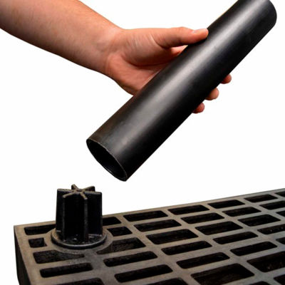 "Structural Plastic Shelf Leg 36"", Black"